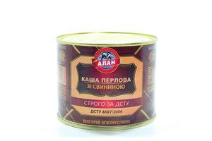 Каша Алан перлова зі свининою ДСТУ з/б 525г