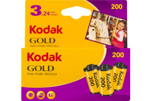 Kodak 200 Gold Film - 3 CT