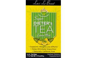 Laci Le Beau Super Dieter's Tea Lemon Mint Tea Bags - 15 CT