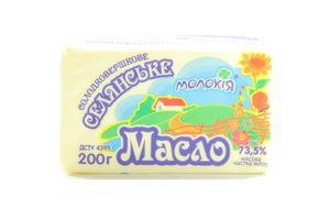 Масло Молокия крестьянское сладкосл 73,5% пергам 200г