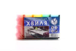 Набор губок кухонных хозяйственных Волна Deluxe 5шт