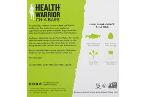 Health Warrior Superfood Chia Bars Coconut - 5 CT