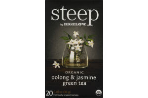 Steep by Bigelow Organic Oolong & Jasmine Green Tea - 20 CT