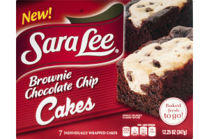 Sara Lee Brownie Chocolate Chip Cakes - 7 CT