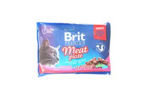 Корм Brit premium Meat plate 2х2 4*100г