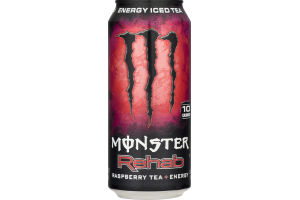 Monster Energy Iced Tea Rehab Raspberry Tea + Energy