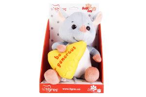 Игрушка для детей от 3лет №ІГ-0067 Мышка be generous Tigres 1шт