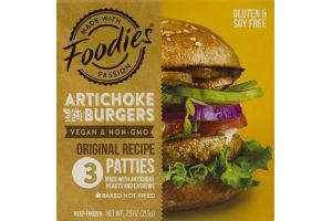 Foodies Artichoke Burgers Original Recipe - 3 CT