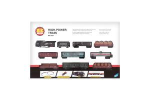 Набор игровой для детей от 3лет №19033-8 Железная дорога с 9 вагонами Big Motors 1шт