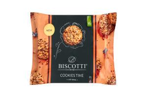 Печенье здобное песочно-отсадное с семечками Cookies time Biscotti кг