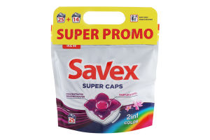 Н-р капсулы д/стир Savex 2in1 Color 25шт+Fresh14шт