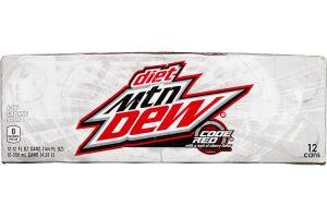 Diet Mtn Dew Code Red - 12 CT
