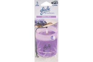 Glade Car Air Fresheners Lavender & Vanilla - 3 CT