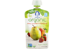Gerber Organic Baby Food Pears, Peaches & Strawberries