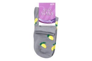 Шкарпетки жіночі Легка хода №5383 23 срібло