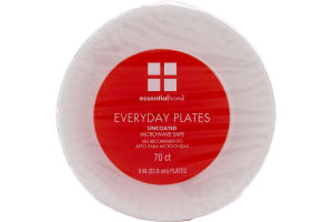 Essential Home Everyday Plates Uncoated 9 IN - 70 CT