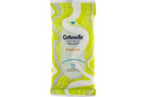 Cottonelle Flushable Cleansing Cloths Fresh Care - 10 CT
