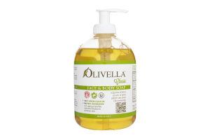 Мыло для лица и тела жидкое на основе оливкового масла Olivella 500мл