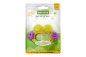 Прорізувач-брязкальце Baby Team 4+ 4001