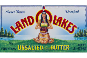 Land O Lakes Butter Sticks Unsalted - 4 CT