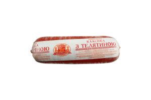 Колбаса вареная Классика с телятиной М'ясна Ліга кг