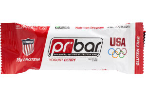 Pr Bar Personal Record Nutrition Bar Yogurt Berry - Gluten Free