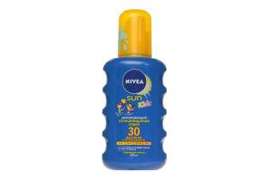 Спрей солнцезащитный сверхводостойкий SPF 30 Kids Sun Nivea 200мл