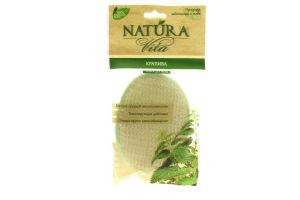 Спонж для тела с натуральными волокнами крапивы Natura Vita 1шт