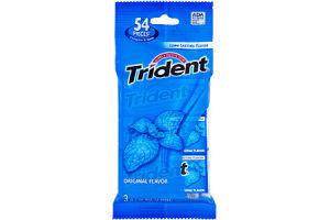 Trident Original Flavor Sugar Free Gum- 3 PK