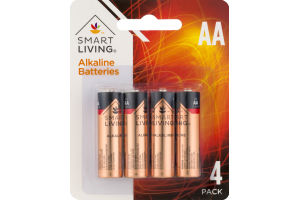 Smart Living Alkaline Batteries AA - 4 CT