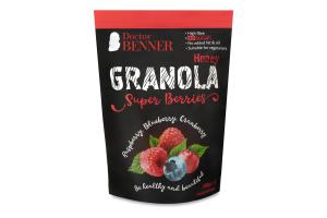Гранола Super Berries Raspberry Blueberry Cranberry Doctor Benner д/п 300г
