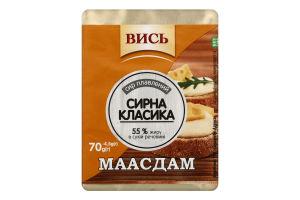 Сыр плавленый 55% Маасдам Вись м/у 70г