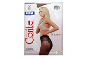 Колготки жіночі Conte elegant Bikini 20 den 3 Natural