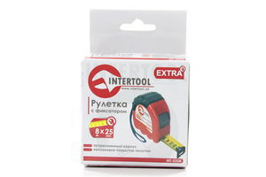 Рулетка InterTool з фіксат.8м*25мм 0208