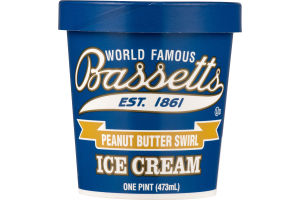 Bassetts Ice Cream Peanut Butter Swirl