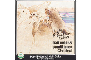 Light Mountain Natural Hair Color & Conditioner Chestnut