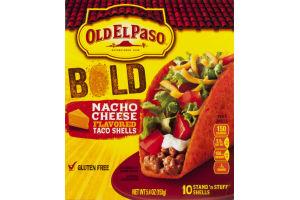 Old El Paso Bold Taco Shells Nacho Cheese Flavored - 10 CT