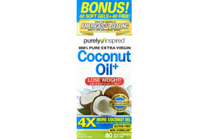 Purely Inspired Coconut Oil+ Dietary Supplement - 80 CT
