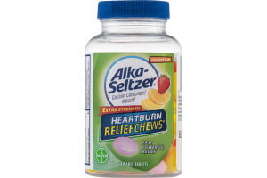 Alka-Seltzer Extra Strength Heartburn ReliefChews Tablets Assorted Fruit - 60 CT