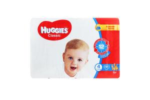Підгузники для дітей 7-18кг 4 Classic Huggies 82шт