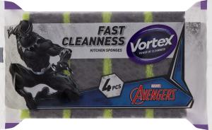 Губки кухонні Avengers Vortex 4шт