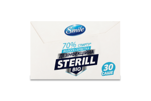 Серветки вологі дезінфекційні Sterill Bio Smile 30шт