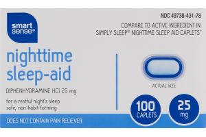 Smart Sense Nighttime Sleep-Aid Caplets - 100 CT