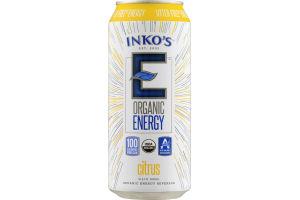Inko's E Organic Energy Beverage Citrus