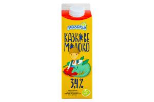 Молоко 3.4% Казкове молоко Молокія п/п 900г