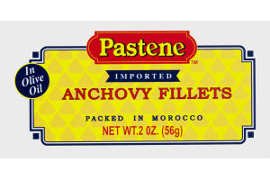 Pastene Imported Anchovy Fillets In Olive Oil