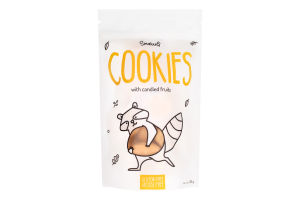 Печенье без глютена и лактозы с цукатами Smakuli д/п 120г