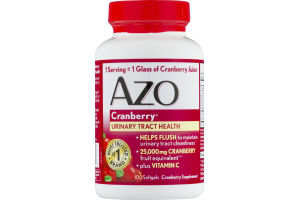 AZO Cranberry Urinary Tract Health Supplement Softgels - 100 CT