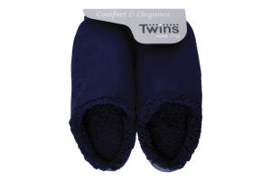 Тапочки-получешки домашние мужские флис/тучки №4815 Twins 40-41 синий