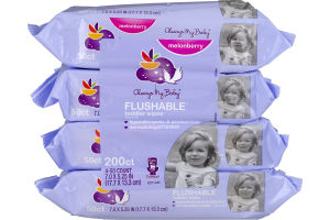Always My Baby Toddler Wipes Flushable Melonberry - 200 CT